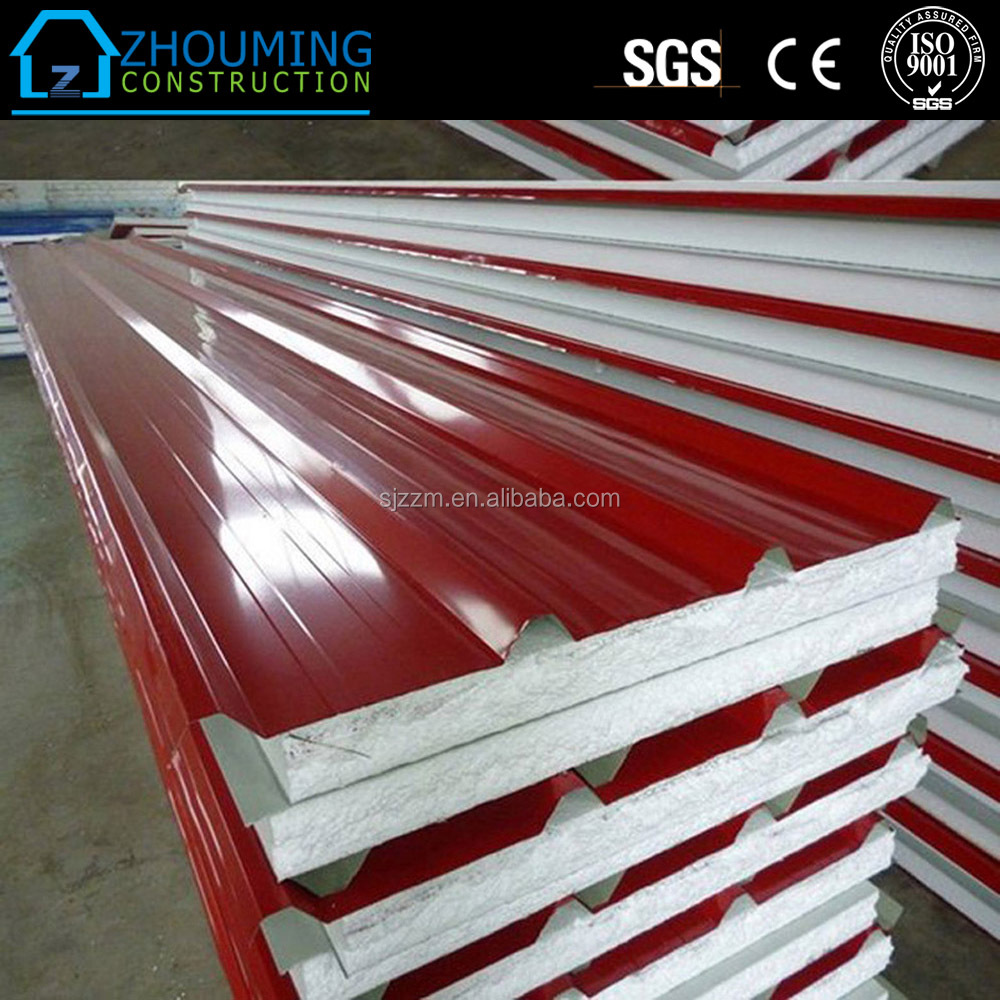 colored metal eps roofing panels/steel panels