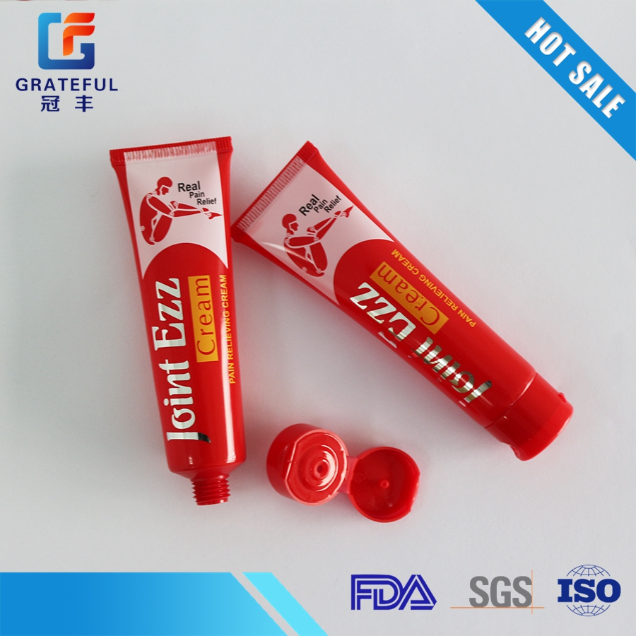 Hot sell red cartoon tube plastic tube for face cleanser