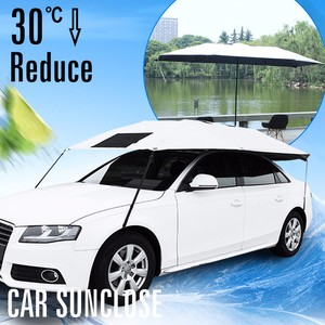 Blank sliver front window car sunshade single layers waterproof vertical car parking awning