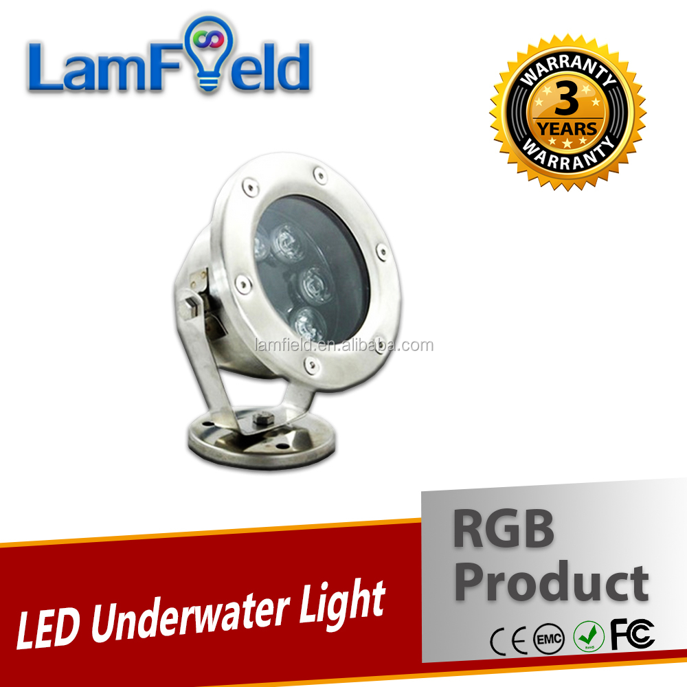 High Quality Toughened Glass Lenses 6W LED RGB Underwater Light With DMX512 Control
