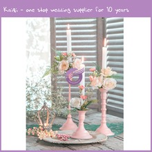 KA457 decoration party elegant pink metal flower stand for wedding centerpiece/wedding disposal