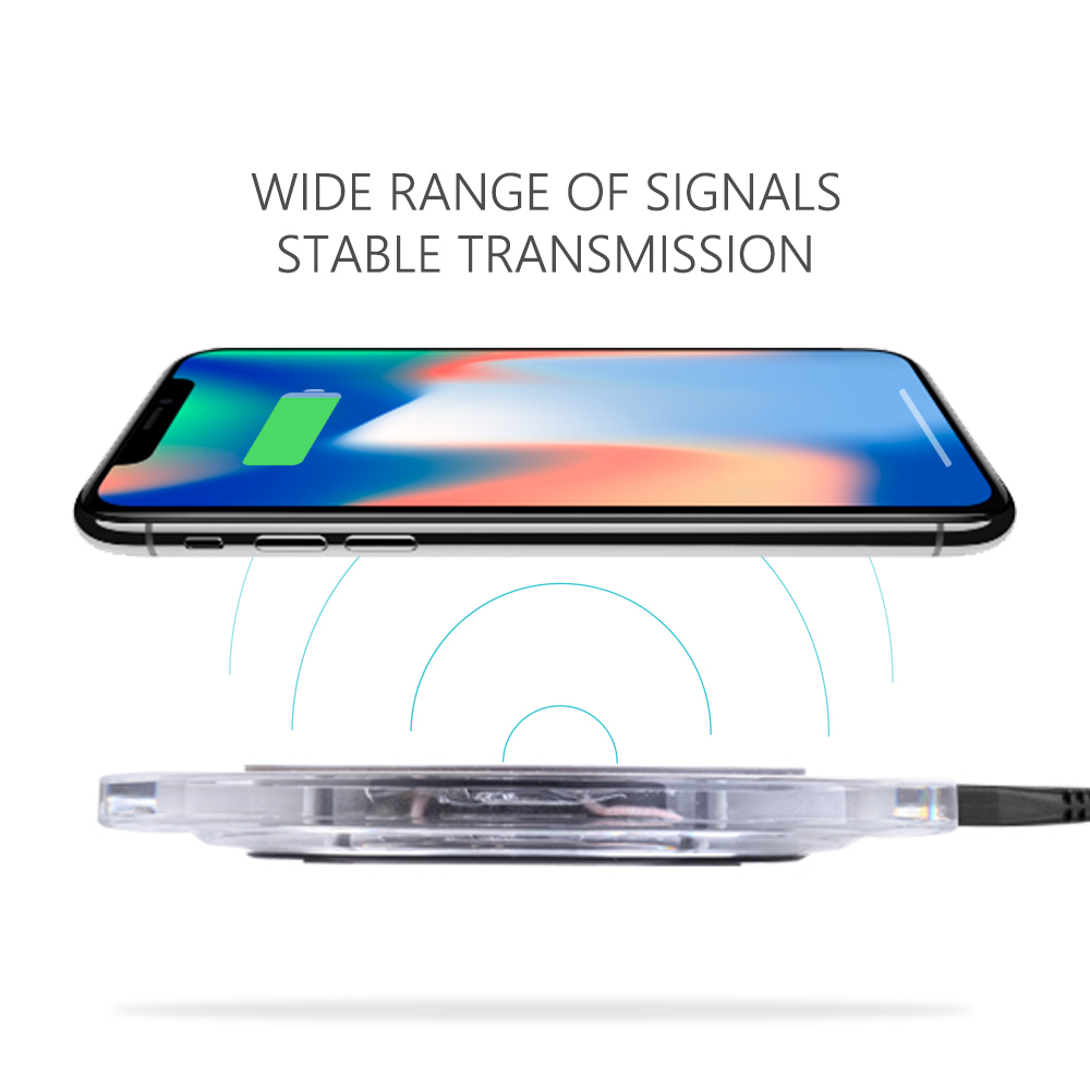 2018 trend product hot selling qi wireless mobile phone fast charger for samsung