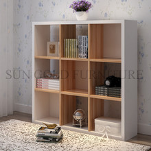 Factory Direct Wooden bookcase Office Filing Cabinet for partition divider(SZ-FCT623)