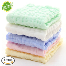 Soft Natural 100% Organic Cotton Baby Wipes Newborn Baby Muslin Washcloths and Towels