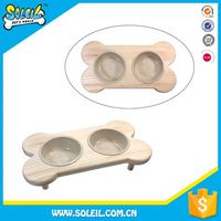 Wholesale Natural Wood Plastic Dog Bowl