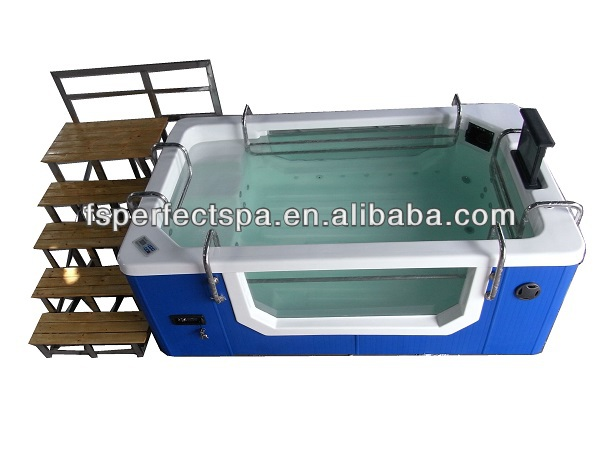 Acrylic whirlpool spa tub with foot massage jets