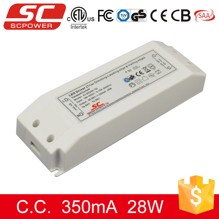 KI-80350-TD triac dimmable indoor led drivers dimmable 220V