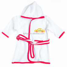 SP-MS-002 wholesale long sleeve terry cotton hooded toddler bathrobe