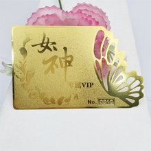 High Quality Custom Shaped Embossed Gold Metal Business Cards Metal VIP Cards