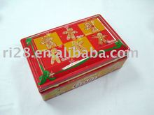 Rectangle jewelry tin box with hinges