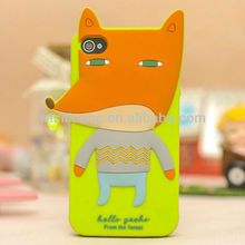 3D Silicone Animal Case for iPhone 4