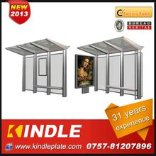 kindle professional modern aluminum bus stop shelter over 30 years experience ISO9001:2008