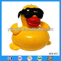 Fashion giant inflatable promotion duck, yellow inflatable duck float for promotion