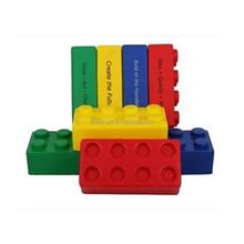 toy bricks Piece Stress Ball New Promotional Gift,pu foam building block stress ball