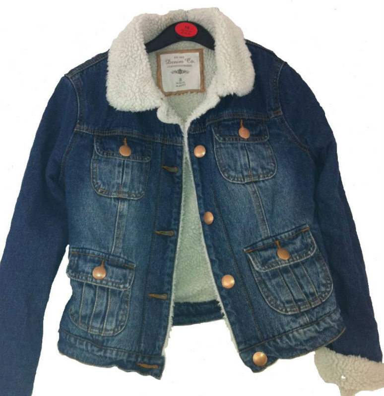Ladies Fleece Lined Denim Jacket - Buy Ladies Short Denim Jackets ...