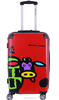 Popular Sky PC printing travel luggage bag /fashion trolley luggage/suitcase wheel wholesale DC--8115