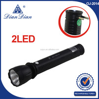 2015 high quality high power electric charge led flashlight