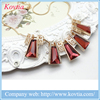 Collares de moda 2016 new arrival hot items red bib necklaces accessories woman necklaces