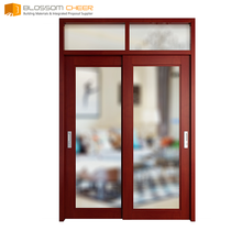 Modern design commercial pvc wooden doors mdf wood door with pvc finishing