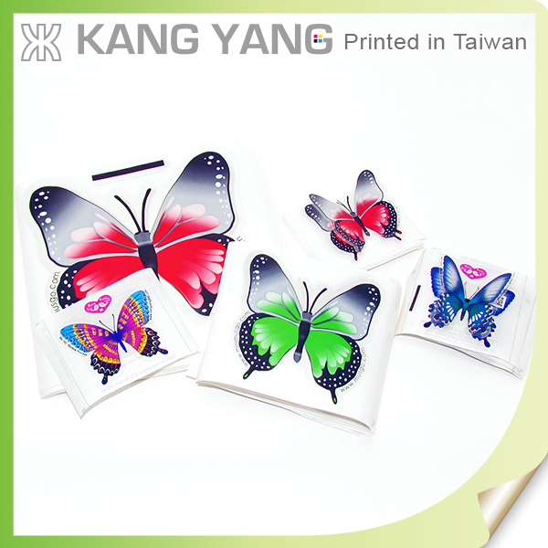 Produce Quality Resin Domed Product For All Users Of Clear PET Paper Butterfly 3D Sticker Label