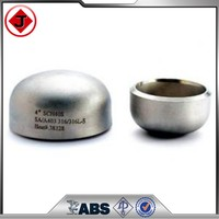 Round Head Code and Welding Connection Stainless Steel Pipe cap