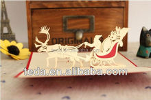 Chinese made ,christmas invitation card, greeting card