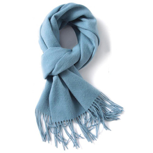 Fall Winter Cashmere Wool Men Fashion Scarves Solid Scarf Wrap