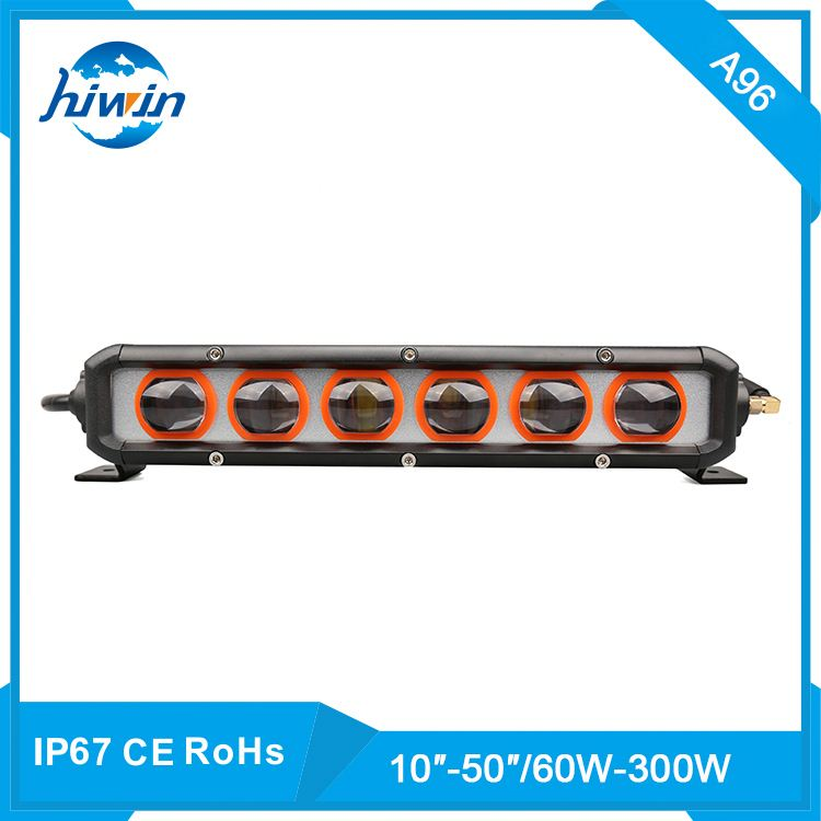 Hiwin 60-300W/10-50inch 6000k 3000k high powerful amber cover 80w led light bar