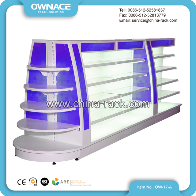Fashion New Arrival Cosmetic Products Display Stands Island Shelf for Cosmetics
