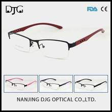 Half-rim name brand fancy spectacles for stock sale from Chinese factory