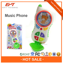 Top sale toys cartoon intelligent musical mobile phone for kids