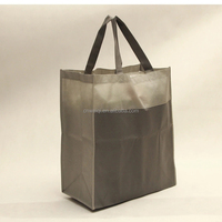 stylish bopp lamination tote black non woven bag a4 size alibaba borong