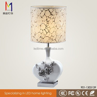 Wholesale fashion classical fabric shade led ceramic table lamp