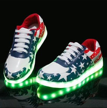 Attractive usb charged led shoes for kids