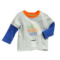 2015 fashion design new children's long sleeve t shirt with cotton 100%