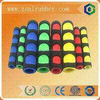 soft kinds of customized Foam rubber handle grip/hand nbr tube