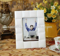 white soft leather photo frame soft board pictures