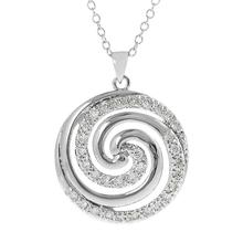Different Types Of Pendant Italian Chains Swirl Necklace