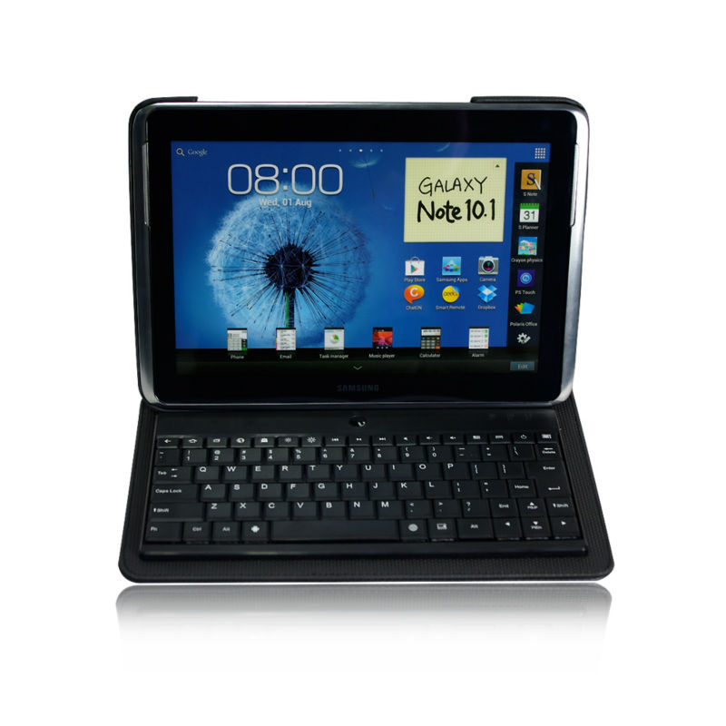 Leather Case Detachable Bluetooth Wireless Keyboard for galaxy