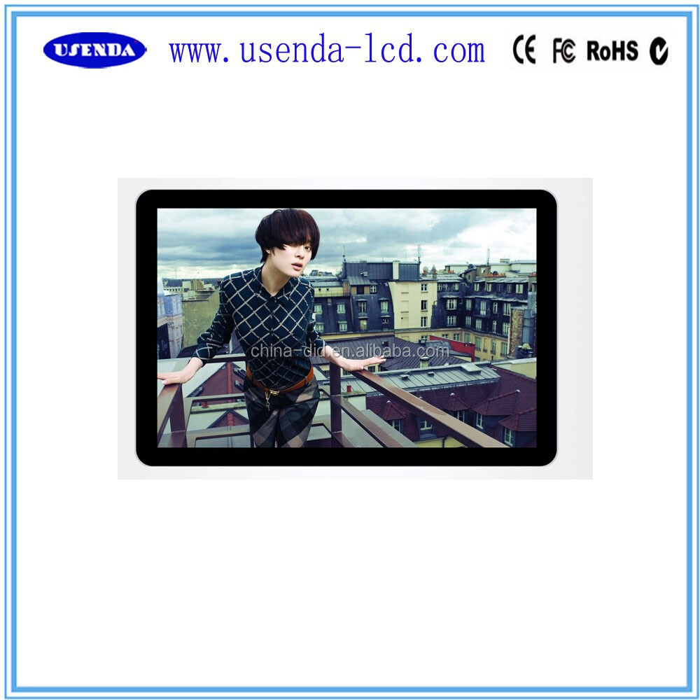 17 19 22 inch Wall mount 3g wifi network bus advertising player lcd