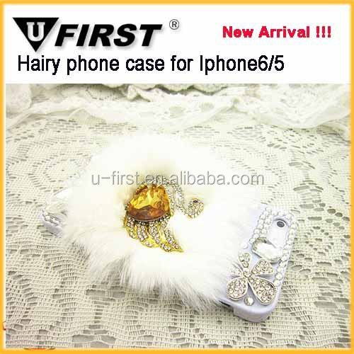 cute hairy fox bling diamond hard case cover for iphone5 / 6