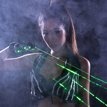 FREE SHIPPING Popular Dancing Party Laser Gloves With 5 Green Lasers And 1 Palm Light SSI-LS