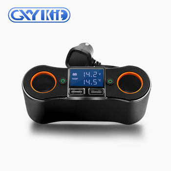 GXYKIT New arrival 3.1A High Power Dual USB Port Car Charger Car Cigarette Lighter Socket with Blue LED Light