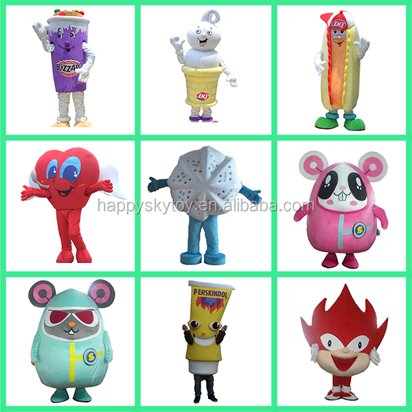 HI high quality CE/ASTM cheap professional cartoon character mascot costumes