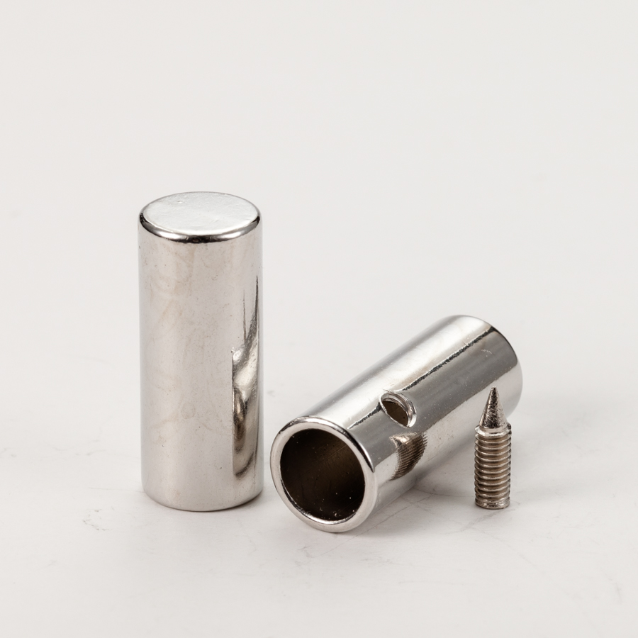 High quality custom logo alloy metal draw cord end stopper for clothes