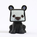 square head black dog plastic tin can /custom your own money saver/plastic PVC ATM money saving can for kids producer