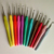 12pcs soft rubber handle crochet hooks ,wholesale tpr crochet hook set