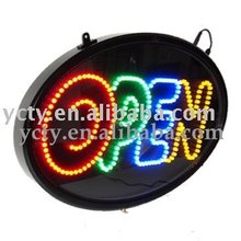 Oval LED Open Window Sign