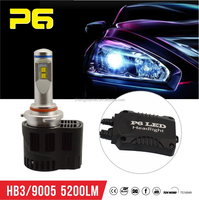 2015 New!!! High Quality Motorcycle Led Driving Lights 55W 5200LM/bulb IP68 HB4 LED Car Headlight Bulbs High Low Beam