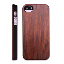 High Quality Wood Phone Case For Custom Logo Attachment Black Wood Cover for iPhone Wood PC Hard Case For iPhone 5,5s,se